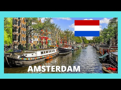 AMSTERDAM, the fascinating floating homes (BARGES) in the CANALS (The Netherlands)