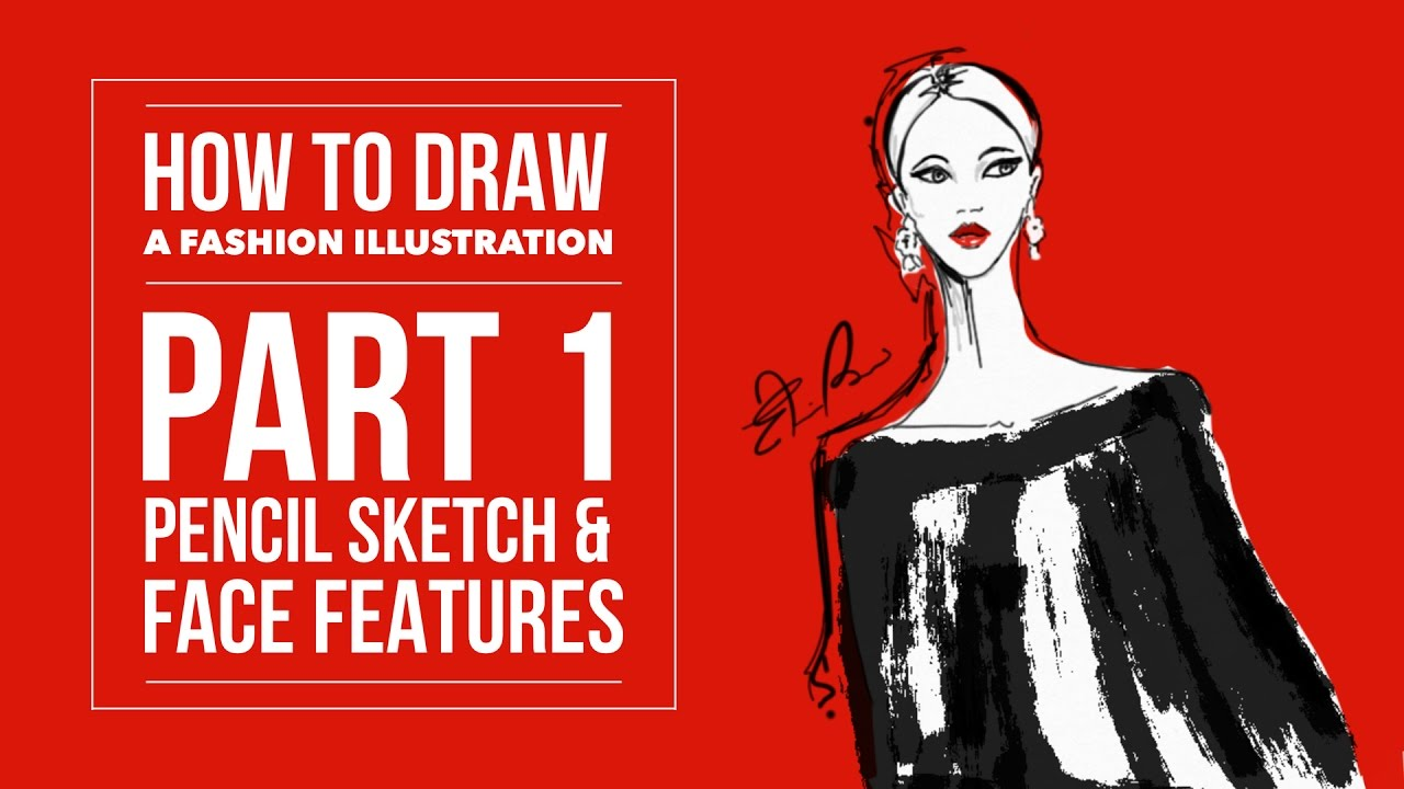 How to draw a fashion illustration pt 1 pencil sketch facial features in sketches app