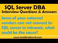 Some of your external vendors can not connect to SQL server in intranet, what could be the cause
