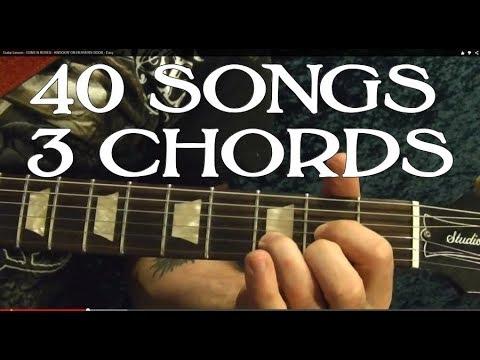 40 EASY Rock Songs, THREE Chords! - Guitar Lesson