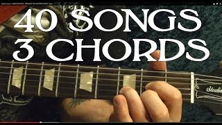 40 EASY Rock Songs, THREE Chords! - Guitar Lesson