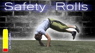 PARKOUR SAFETY ROLLS Tut๐rial - Forward Roll, Side Roll, Back Roll