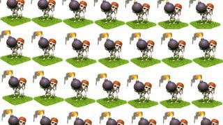 Clash of Clans Attack with 220 lvl5 Wall Breaker
