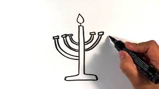 How to Draw a Menorah