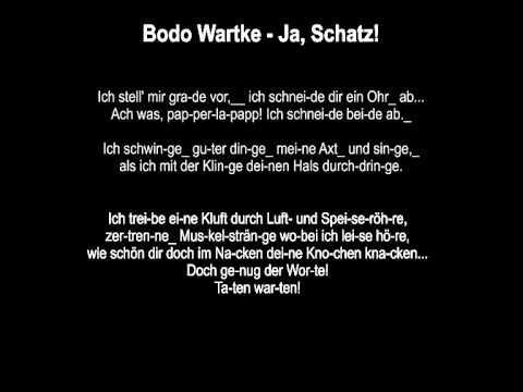 Bodo Wartke - Ja, Schatz! (Instrumental & Lyrics)