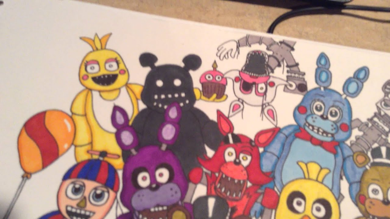 Cat Wall Murals All Of My Fnaf Drawings Part 3 Youtube