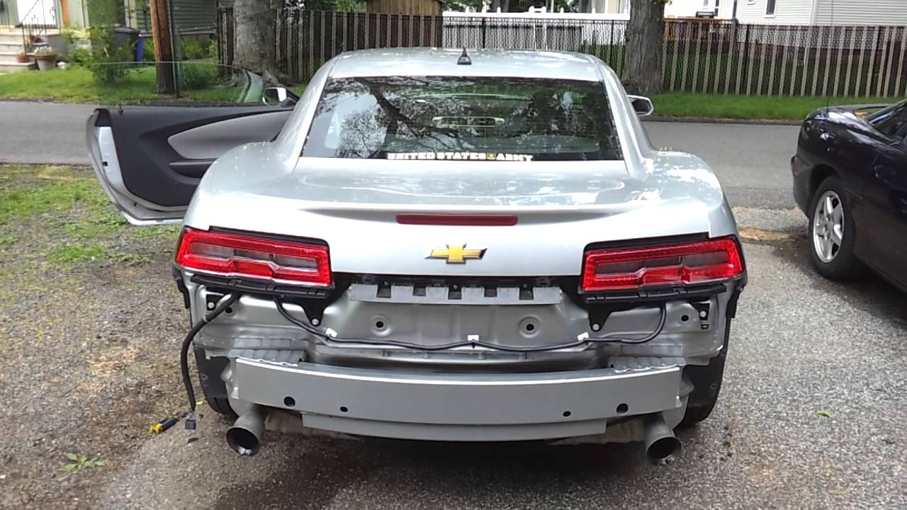 2014 Camaro RS LED Taillight swap  YouTube