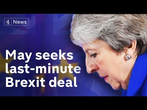 May goes to Europe seeking last-minute concessions before Brexit vote