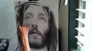 Jesus of Nazareth Charcoal Portrait Timelapse
