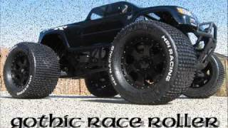 hpi savage x ss gothic race roller by initial k racing