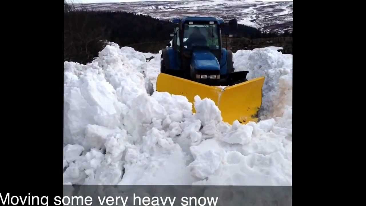 Curtis Snow Plow >> Tractor v plow in deep snow - YouTube