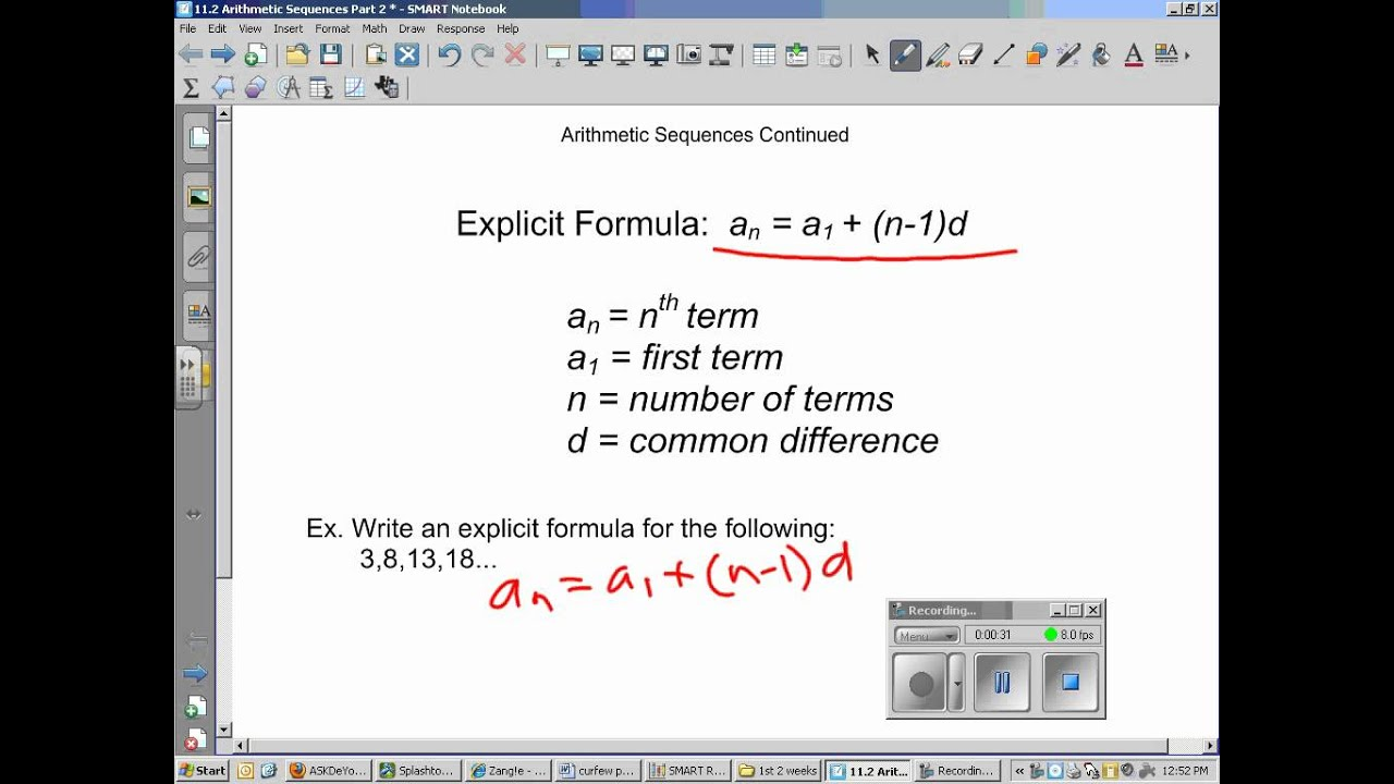 11 2 writing the explicit formula - YouTube
