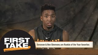 Donovan Mitchell explains why he should be Rookie of the Year over Ben Simmons   First Take   ESPN