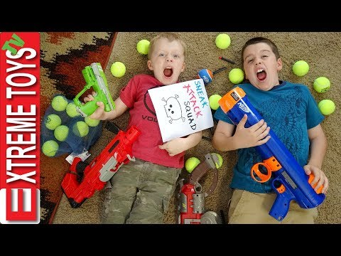 Extreme Toys Shorts: Ethan and Cole Sneak Attack Squad Nerf Bazooka Blast!