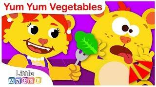 Yum Yum Vegetables | Healthy Eating Habits for Kids | Nursery Rhymes by Little Angel