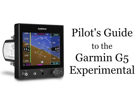 Pilot's Guide to the Garmin G5 Experimental EFIS