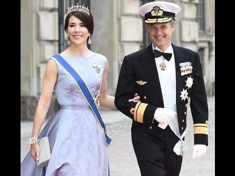 Crown Princess Mary And Prince Frederik At Swedish Royal Wedding 2017