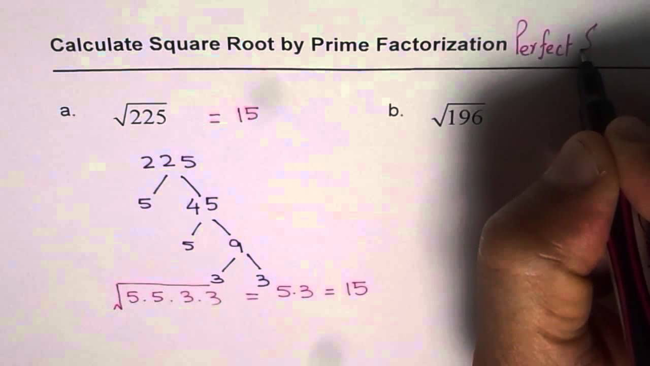 How To Find Square Root By Prime Factorization Youtube Square root calculator that is quick and interactive. how to find square root by prime factorization
