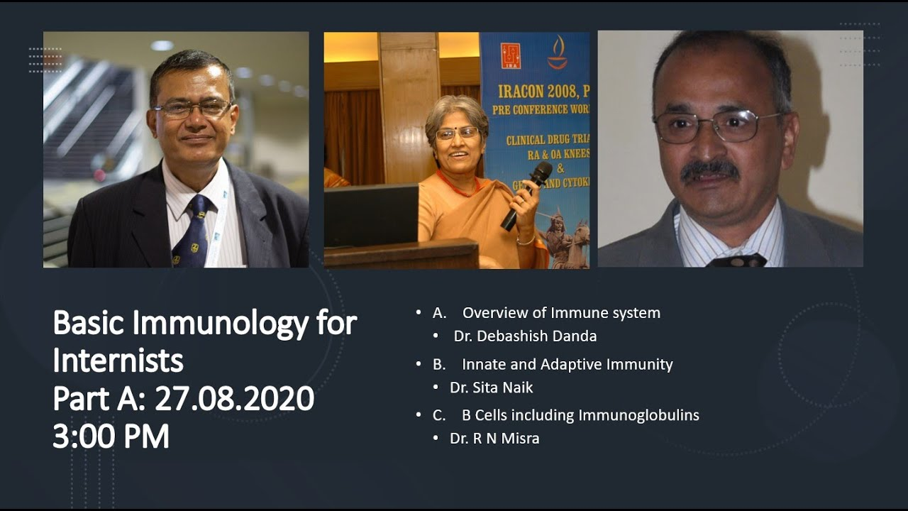 Basic Immunology for Internists Part A: 27.08.2020 - 3:00 PM