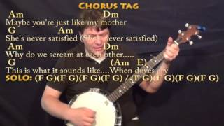 When Doves Cry - Banjo Cover Lesson with Chords/Lyrics - Am Dm G E Mp3