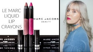 NEW MARC JACOBS LIQUID LIP CRAYONS! | SWATCHES AND REVIEW