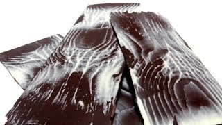 Receta de laminas de chocolate | Figura de chocolate | Chocolate efecto madera