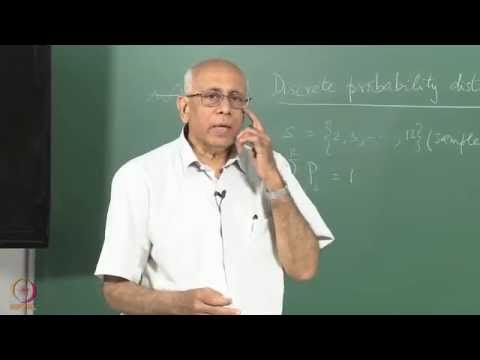 Mod-01 Lec-01 Discrete probability distributions (Part 1)