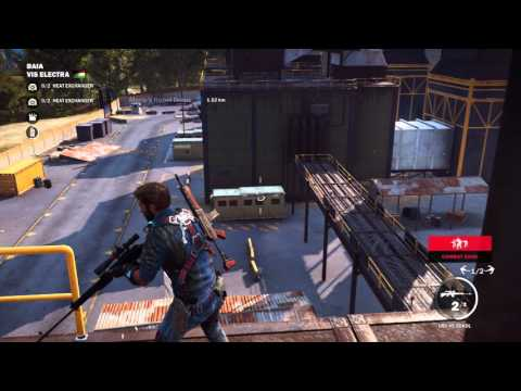 Just Cause 3  Vis Electra Base Liberated Long Video Destroy Turbines, Disable Heat Exchanges PS4