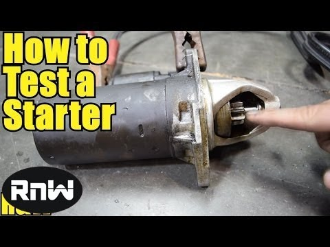 How to Test Your Car\u0027s Starter and Solenoid Assembly - YouTube