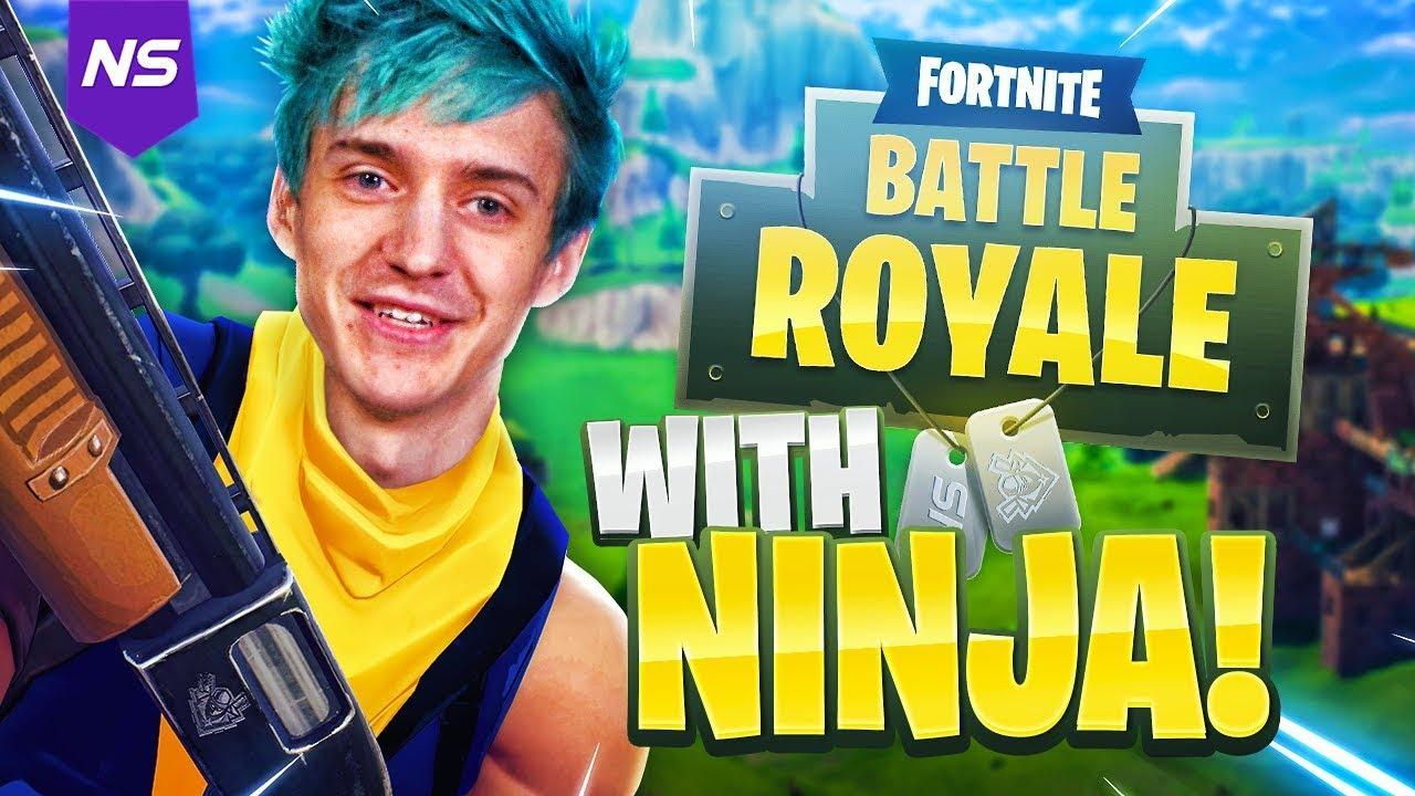 Playing FORTNITE with NINJA! - YouTube