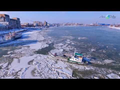 Dunarea Inghetata Ianuarie 2017 la Tulcea