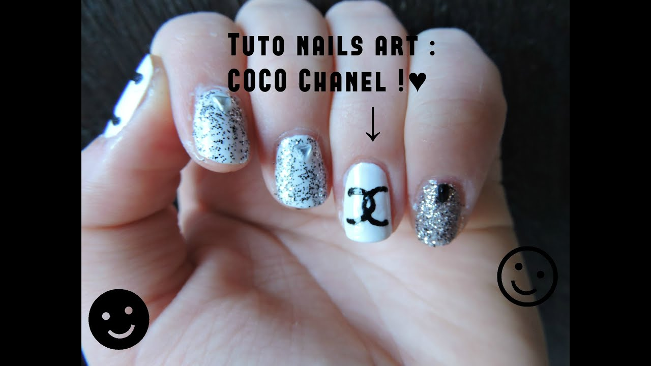 Tuto Nail Art Coco Chanel Youtube