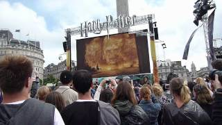 Harry Potter and the Deathly Hallows part 2 trailer at Trafalgar Square