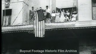 HD Historic Archival Stock Footage WWII 3,700 Civilians Freed From Manila Prison