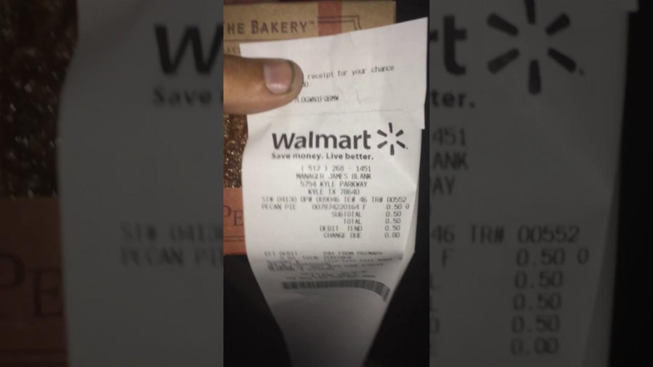 walmart receipt challenge