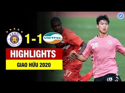 Highlights Hà Nội FC 1-1 Viettel   Sự Trở Lại Của Đình Trọng Với đẳng Cấp Săn Tây Mãn Nhãn Người Xem