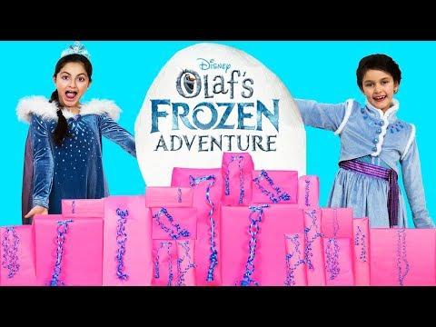 FROZEN ELSA OLAF FROZEN ADVENTURE PRESENTS OPENING! New Olaf FROZEN Adventure Disney Movie Toys 2018