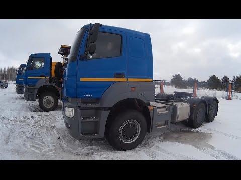 Новый КАМАЗ тягач 6х4 65806 тест драйв