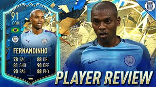 91 TEAM OF THE SEASON SO FAR FERNANDINHO PLAYER REVIEW! TOTSSF FERNANDINHO - FIFA 20 ULTIMATE TEAM