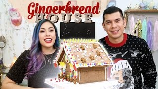 Gingerbread House with Red