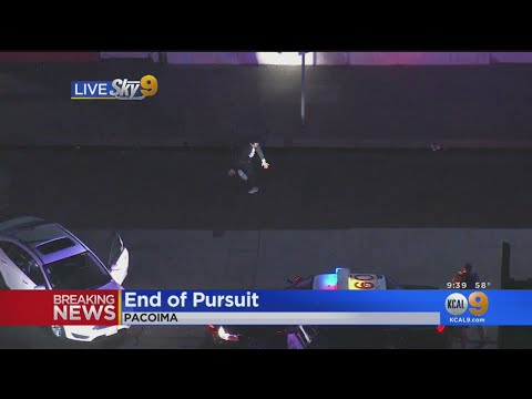 Quinn & Cantara Morning Show - Dude starts break dancing after high speed chase