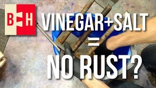 Removing Rust with Vinegar and Salt