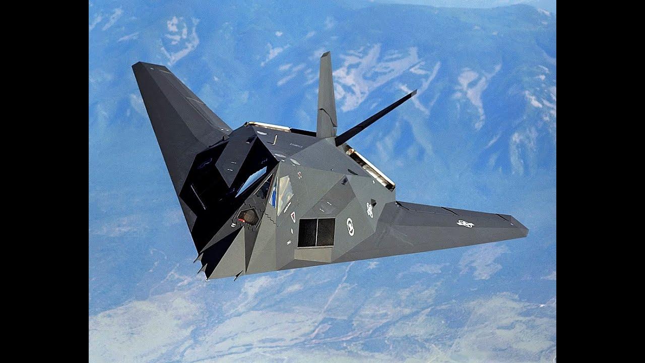F 117 Nighthawk At Night F-117 Nigthawk Stealth...