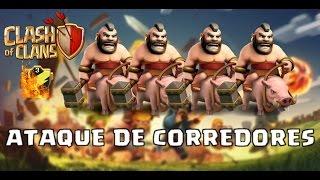 Clash of Clans - Ataque em Guerra!!! - Ataque de Corredor Lv1