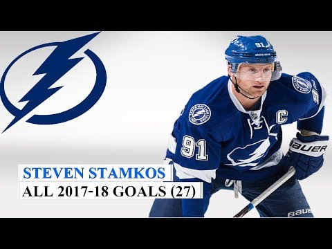 Steven Stamkos (#91) All 27 Goals of the 2017-18 NHL Season