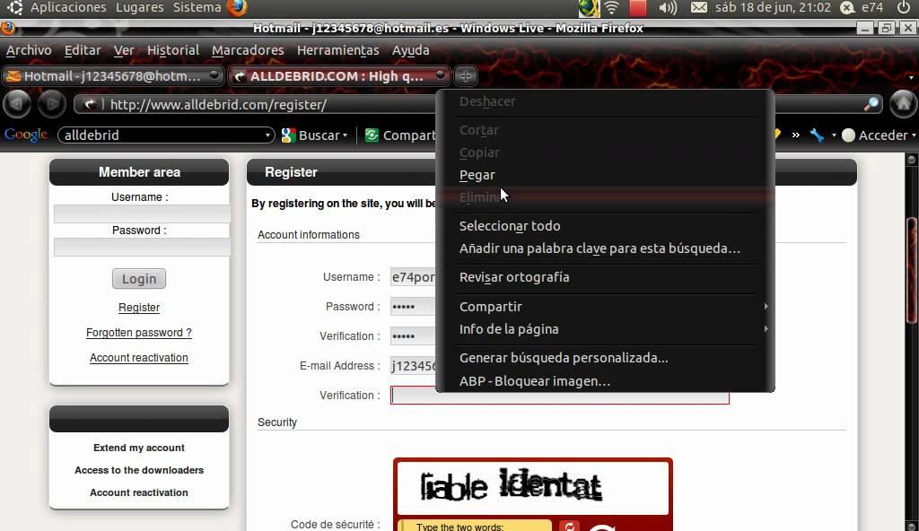 alldebrid registro para jdownloader