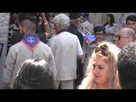 2016 easter Armenian parade Jerusalem - Zadigi doghansk Yerusaghem