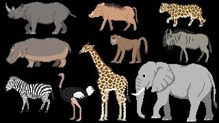 Savanna Animals - Book Version - The Kids' Picture Show (Fun & Educational Learning Video)