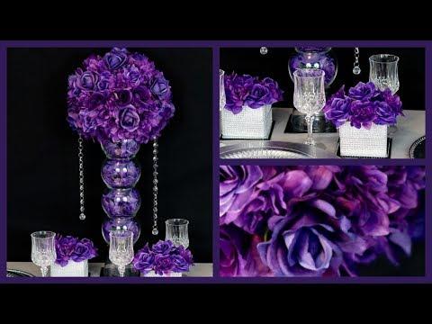 Passion Purple Passion Centerpiece /  DIY / How to create the Passion Purple Centerpiece