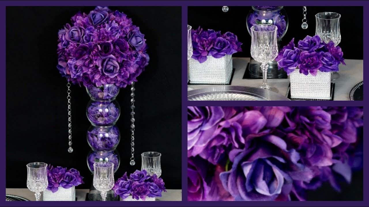 Purple Passion Centerpiece Diy Wedding Centerpiece How To Create The Passion Purple Centerpiece